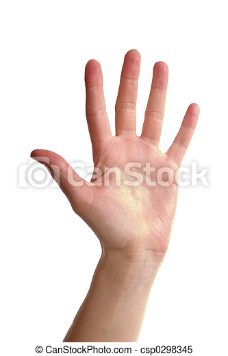 cinco, dedos - csp0298345
