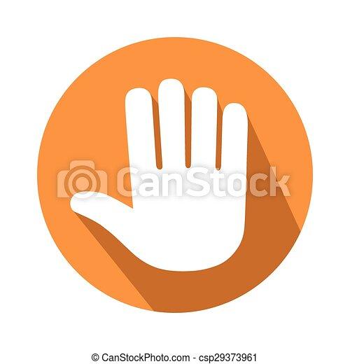 cinco, dedos, gesto - csp29373961