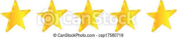 cinco, estrela, prêmio, qualidade - csp17580719