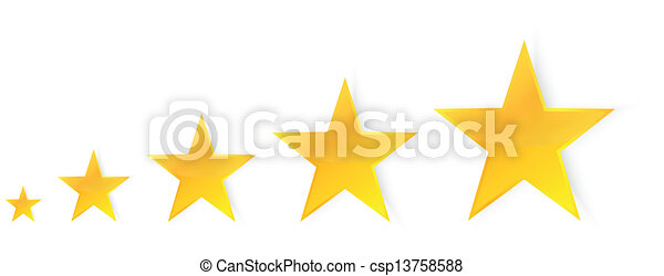 cinco, estrelas - csp13758588