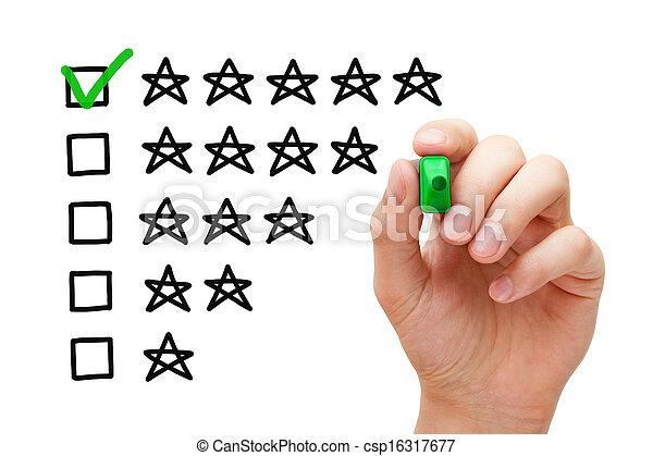 Calificación de cinco estrellas - csp16317677