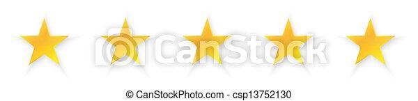 cinco, qualidade, estrelas - csp13752130
