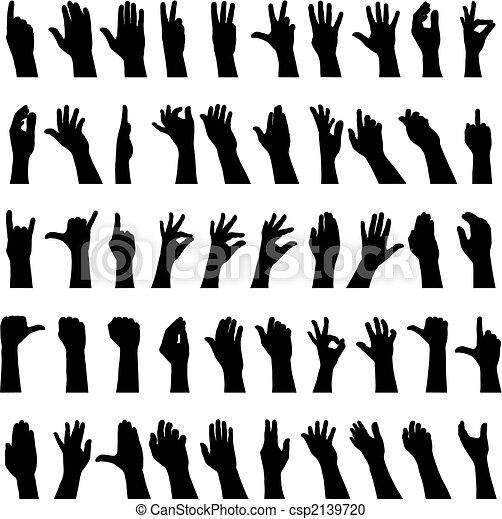 Cincuenta manos - csp2139720