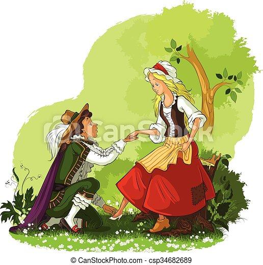 Cinderella and Prince - csp34682689