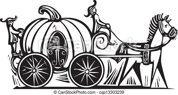 cinderella s carriage fairytale cinderella in pumpkin vectors rh canstockphoto com carriage clipart free carriage clipart black and white