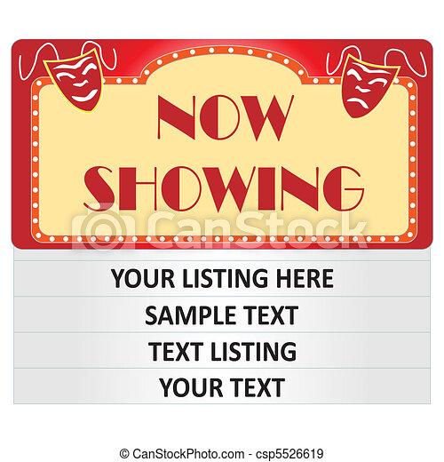 Ilustración de letreros de cine - csp5526619