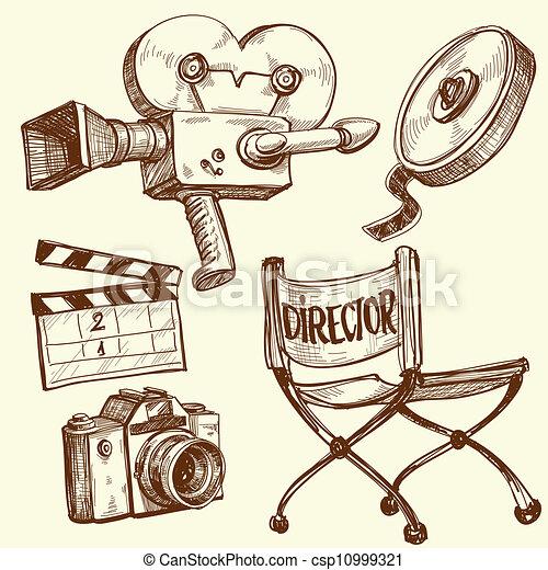 Cinema and photography vintage set - csp10999321