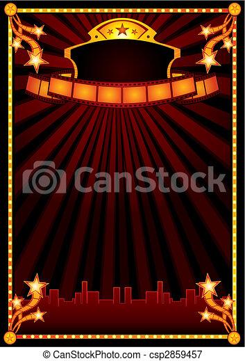 Cinema announcement - csp2859457