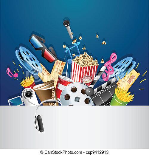 Cinema Background - csp9412913