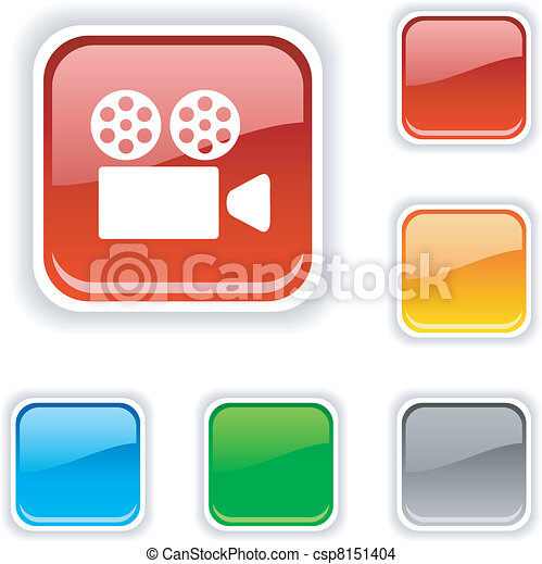 Cinema button. - csp8151404