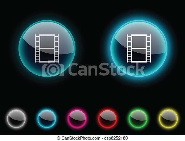 Cinema button. - csp8252180