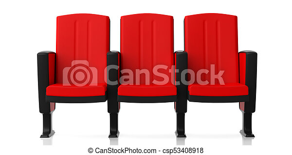 Superieur Cinema Chairs Isolated On White Background, Front View. 3d Illustration