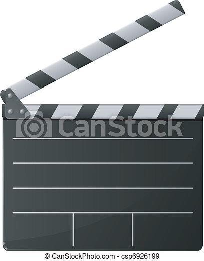 cinema clapper. vector - csp6926199