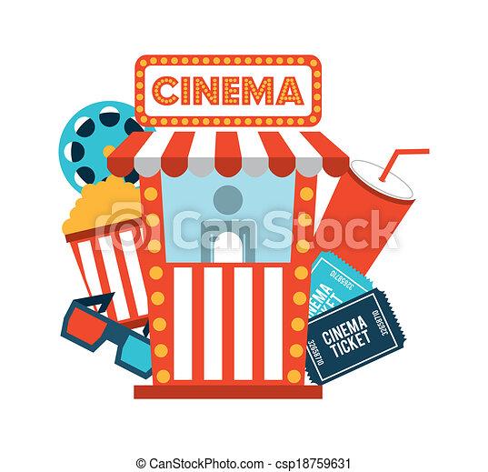 cinema design   - csp18759631