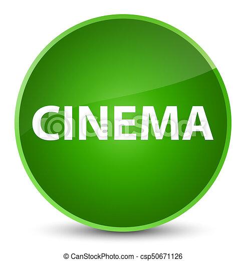 Cinema elegant green round button - csp50671126