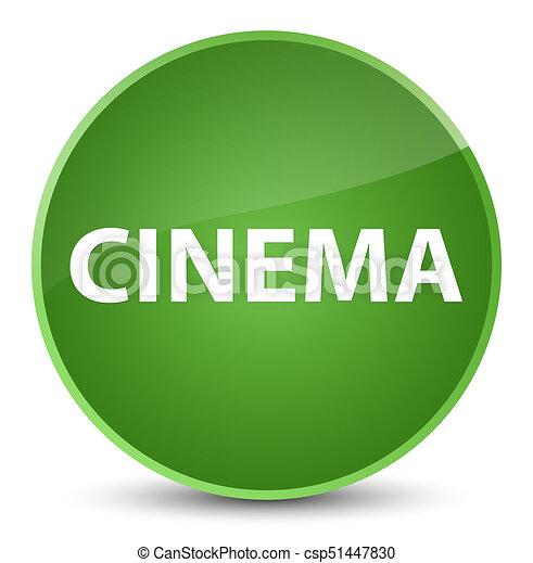 Cinema elegant soft green round button - csp51447830