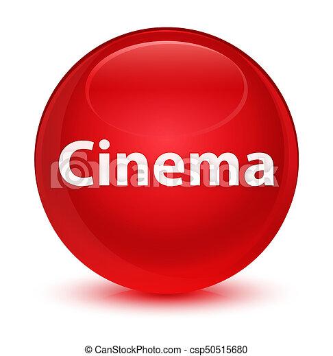 Cinema glassy red round button - csp50515680