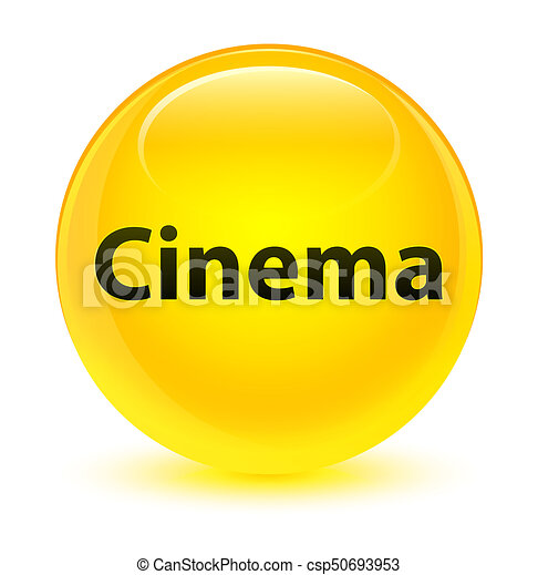 Cinema glassy yellow round button - csp50693953