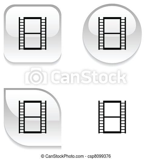 Cinema glossy button. - csp8099376
