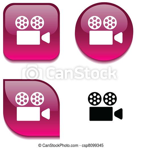 Cinema glossy button. - csp8099345