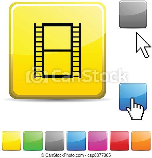 Cinema glossy button. - csp8377305