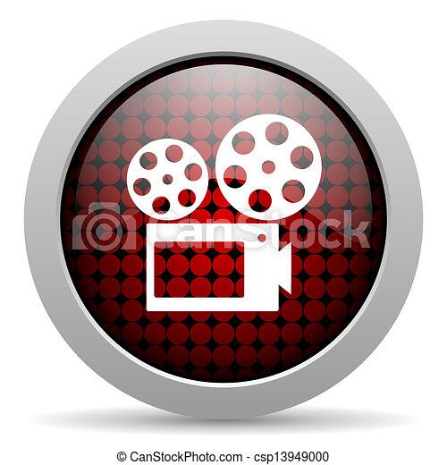 cinema glossy icon - csp13949000