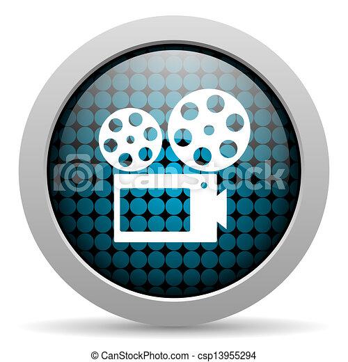 cinema glossy icon - csp13955294