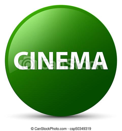 Cinema green round button - csp50349319
