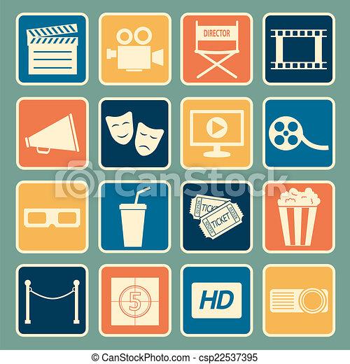 cinema icon - csp22537395