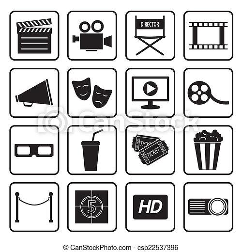 cinema icon - csp22537396