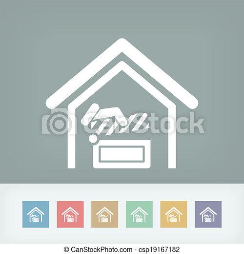 Cinema icon - csp19167182
