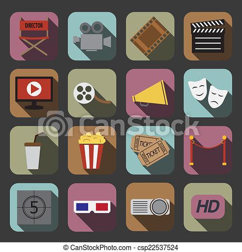cinema icon - csp22537524