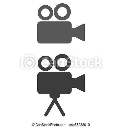 Cinema icon on white background. - csp58283010