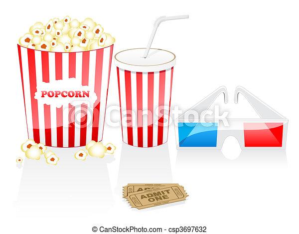 Cinema icons - csp3697632