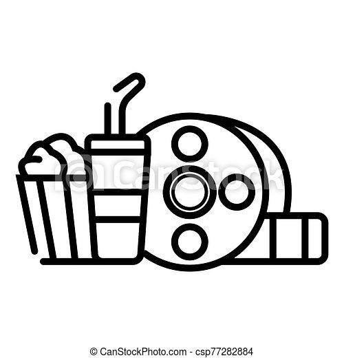 cinema movie icon - csp77282884