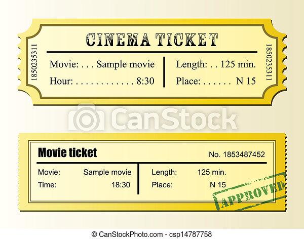 Movie Tickets Vector Clipart Royalty Free 7 286 Movie Tickets Clip
