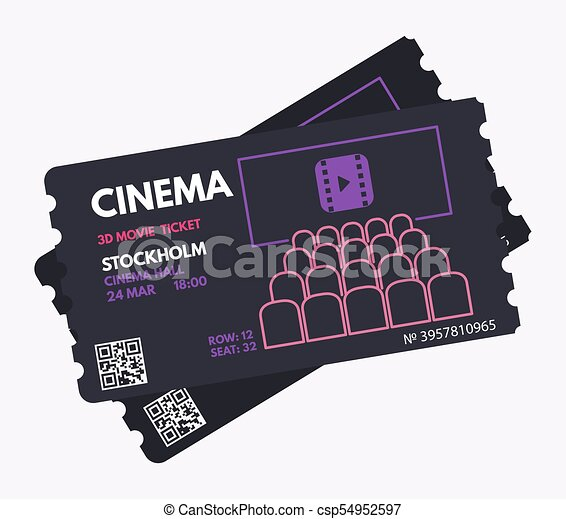 cinema movie tickets cinema ticket template dark black color