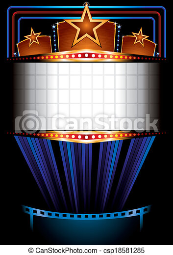 Cinema poster - csp18581285