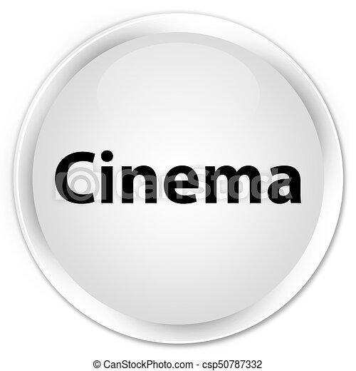 Cinema premium white round button - csp50787332