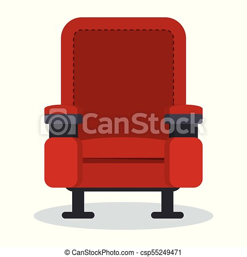 Cinema red chair. Auditorium and seats in a movie theater ...