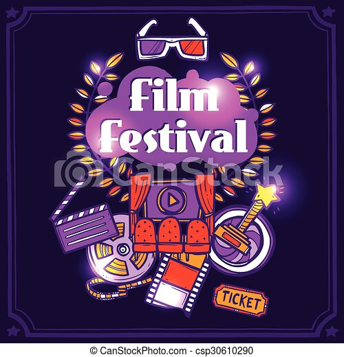 Cinema Sketch Poster - csp30610290