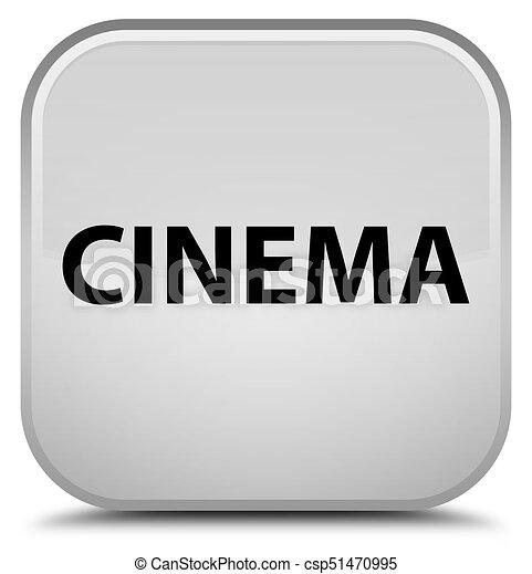 Cinema special white square button - csp51470995