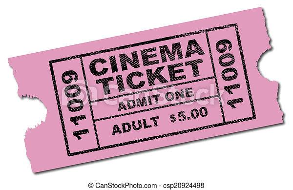 Cinema Ticket - csp20924498