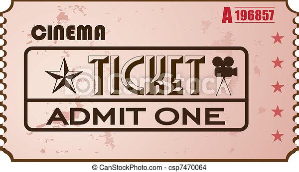Cinema ticket - csp7470064