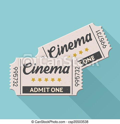 cinema ticket - csp35503538