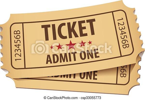 Cinema ticket - csp33055773