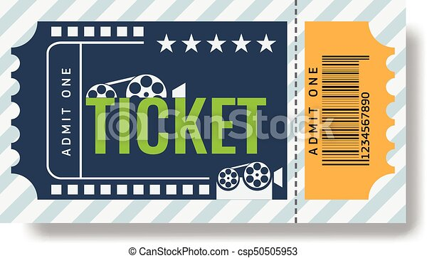 Cinema ticket sample template design. trendy vector. Cinema ticket ...