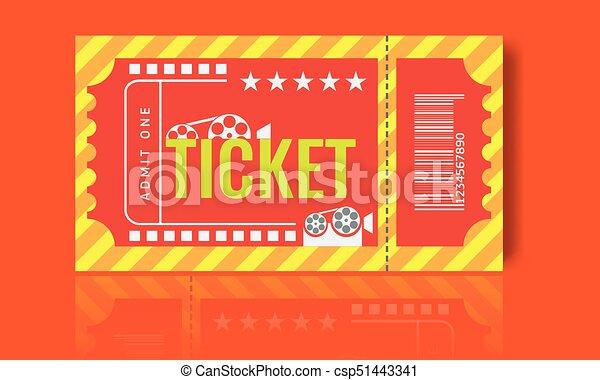 Cinema ticket sample template design trendy vector Cinema eps