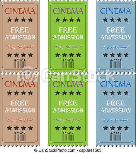 Cinema Tickets - csp3941503