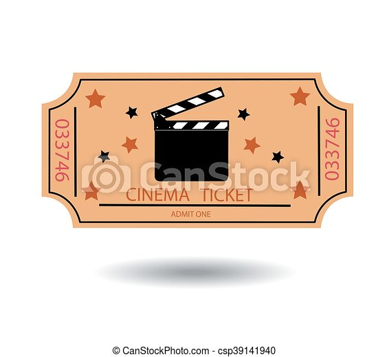 cinema tickets vector illustration - csp39141940